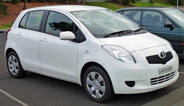 Toyota Yaris Second Generation model 2005-2008