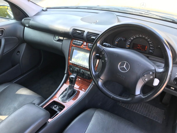 Used Mercedes Benz for Sale in fantastic condition - inside view from drivers seat