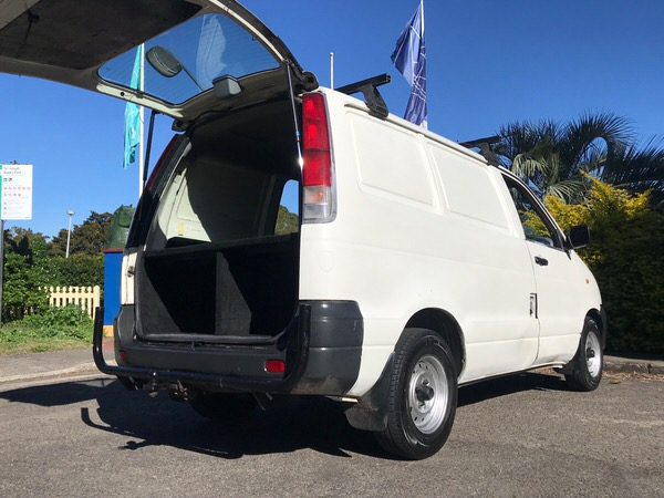 Used Toyota Townace for sale - rear view with storage
