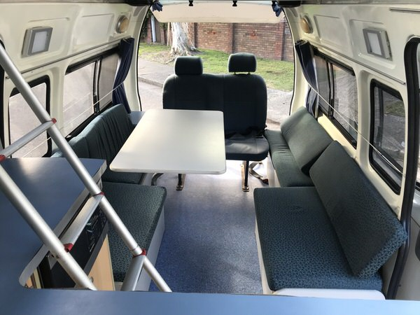 Toyota Automatic Campervan for Sale - the large lounge area