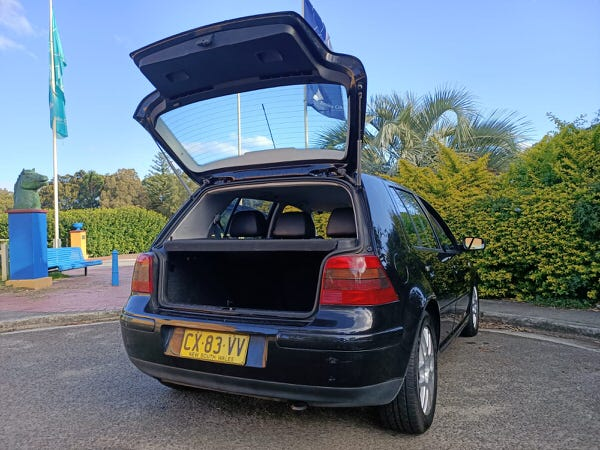 Used Golf GTI for sale - rear view with tailgate open