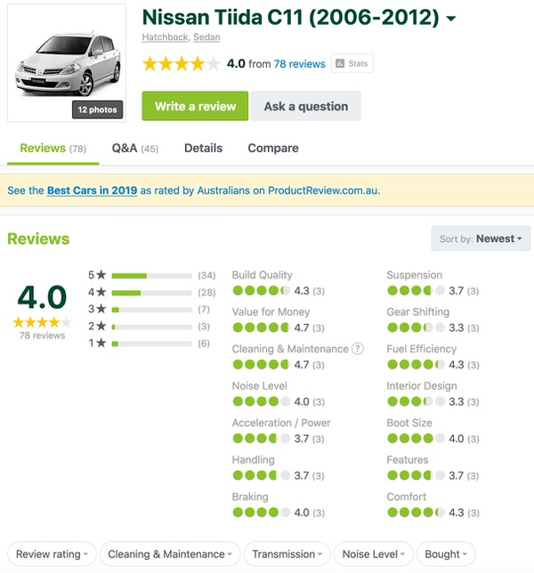 Used Nissan Tiida Customer Review - Sydneycars