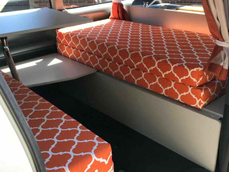 2 person Toyota campervan for sale - Nice and comfy cushions on the bench seats