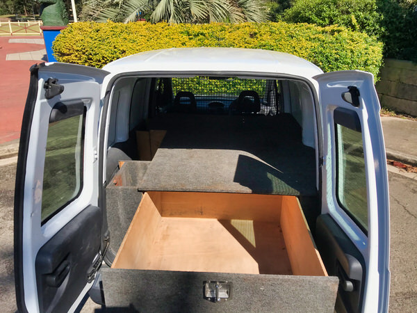 Holden Combo for sale - fully lined with lockage carpeted storage for power tools