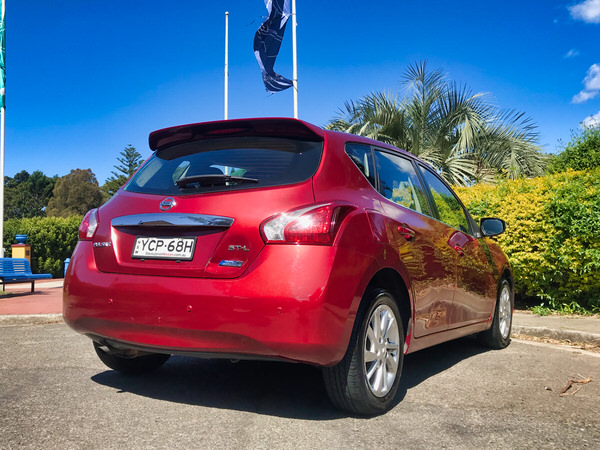 Used Nissan Pulsar for sale - view from rear of the vehicle
