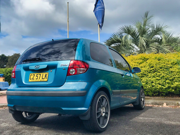 Hyundai Getz for sale - view from front rear drivers side angle