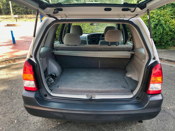 Loads of space in this Mazda Tribute for luggage or shopping