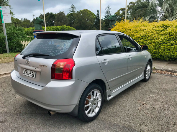 Used Toyota Corolla for sale - Rare Sportivo Model with rear view with full body kit