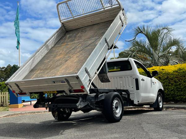 Toyota Hilux tipper for sale in action!