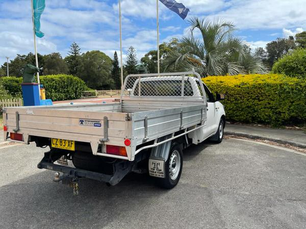 Toyota Hilux tipper for sale - view from rear drivers side view