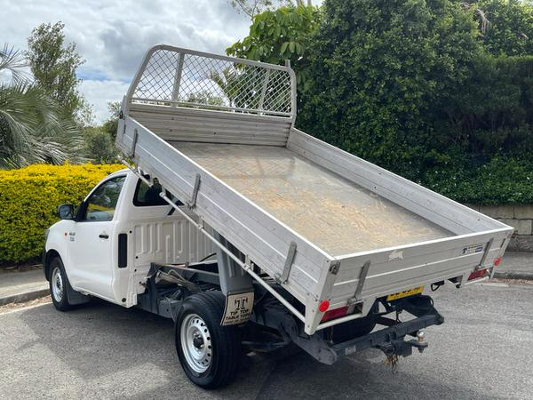 Tipper in action on this Toyota hilux tipper for sale