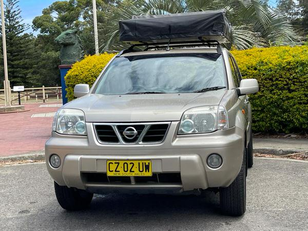 Used Nissan 4x4 for sale with Roof Tent - front straight on view
