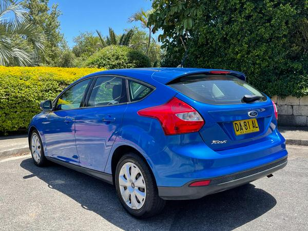 Metallic Blue used Ford Focus - rear view