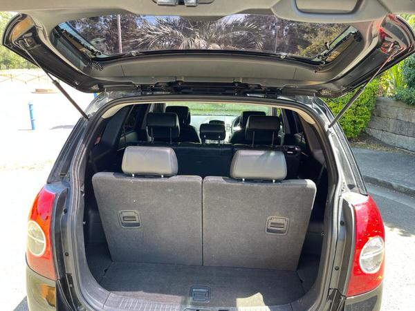 Big boot inside this Holden captiva for sale