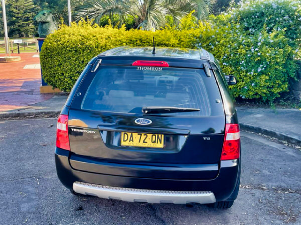 Used Ford Territory 4x4 for sale - view from rear tailgate