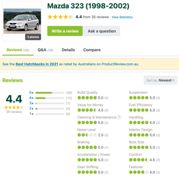Mazda 323 for sale - Customer Reviews and Comments - 1998-2002 year models | Sydneycars