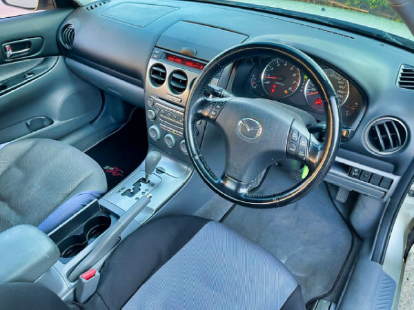 Automatic Mazda 6 for sale - view from the comfortable drivers seat