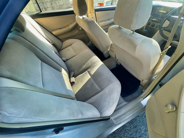 Toyota Corolla for sale in Sydney Automatic   The view from the rear seats inside the vehicle