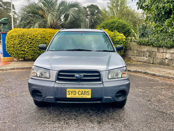 Photo showing a used Subaru Forester from the front staight on view