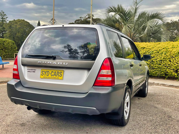 Subaru Forester - rear drivers side angle view